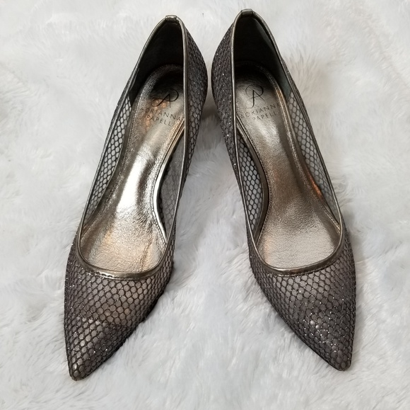 70e8d630370 Adrianna Papell Shoes - Adrianna Papell Silver Pointed Kitten heels